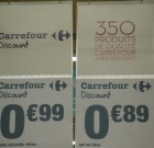 1 + 1 = 2 produits… et ainsi de suite pour Carrefour Discount