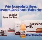 """Affiche """"Voici les produits libres"""" Carrefour"""