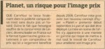 Article du Figaro sur Carrefour Planet