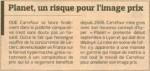 Article du Figaro sur Carrefour Planet