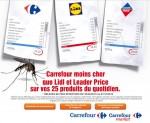 Carrefour moins cher qu'un moustique