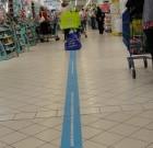 La ligne bleue de Carrefour