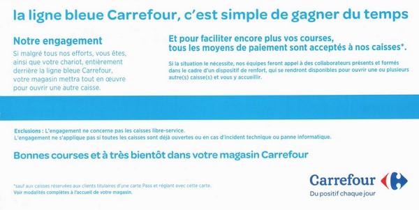 Ligne bleu Carrefour notre engagement