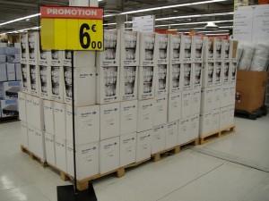 Ampoules Carrefour Discount à salaires économiques