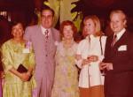de g. à d. : Mme Kemlin, couple Pierre Faye, couple Claude Sordet