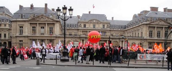 Assemblee generale manisfestation syndicats des salaries