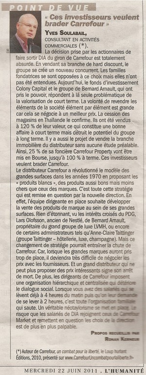 Ces investisseurs veulent brader Carrefour