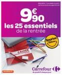 Carrefour 25 essentiels de la rentree