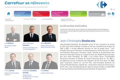 Direction executive carrefour jean christophe deslarzes pierre bouchut