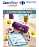 La rentree operation prix bas catalogue carrefour