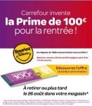 carrefour prime de 100 euros pour la rentree