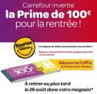 Prime de rentrée de 100€, l'éponge à allocations de Carrefour