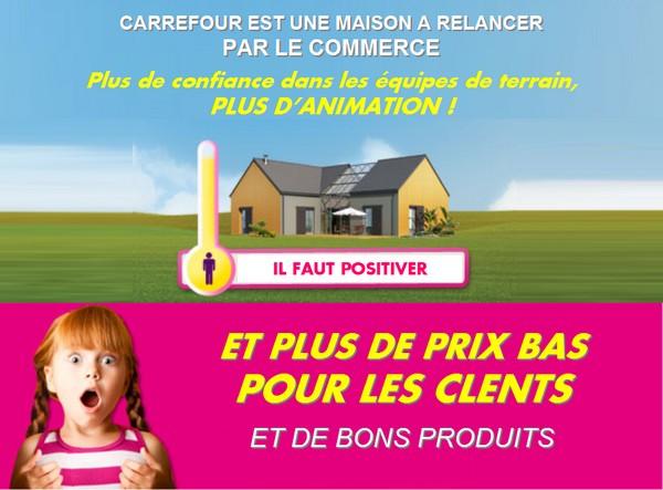 Carrefour il faut positiver