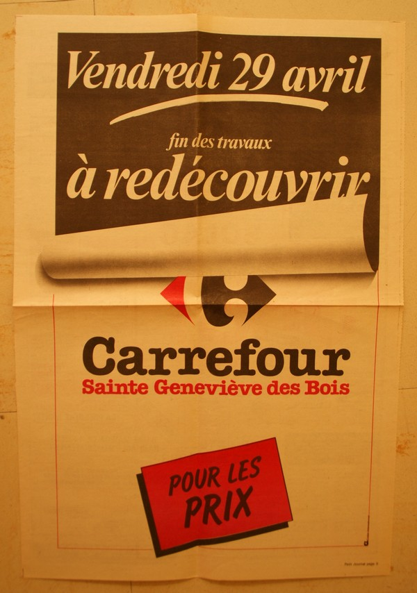 Carrefour Sainte Genevi u00e8ve des bois Inauguration de 1983 # Carrefour Ste Geneviève Des Bois