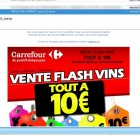 Carrefour : vente de vin très flash