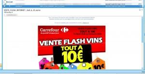 carrefour vente flash vins tout a 10 euros date