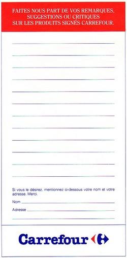 questionnaire consultation produits carrefour