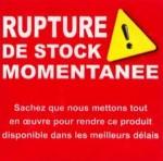 Rupture de stock momentanée
