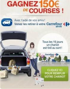 carrefour drive gagnez 150 euros de courses
