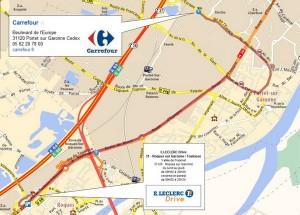 Carrefour Drive Plan portet roques