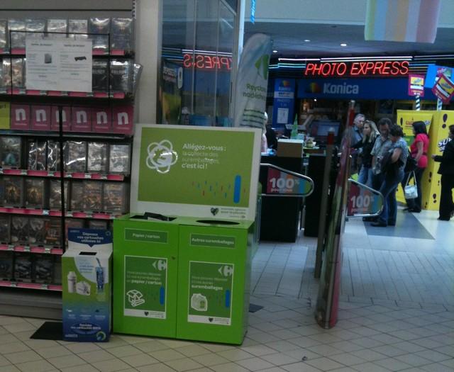 Carrefour Planet La Ville du Bois entree recyclage