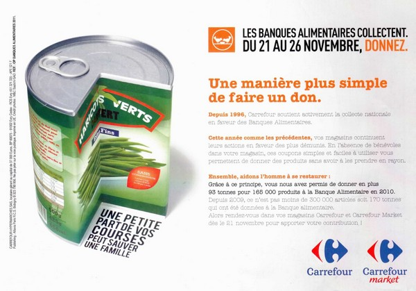 Carrefour banque alimentaire