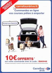 Carrefour drive nouveau service portet sur garonne