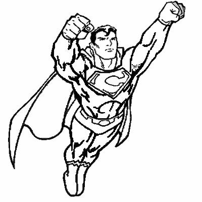 Superman a colorier Carrefour