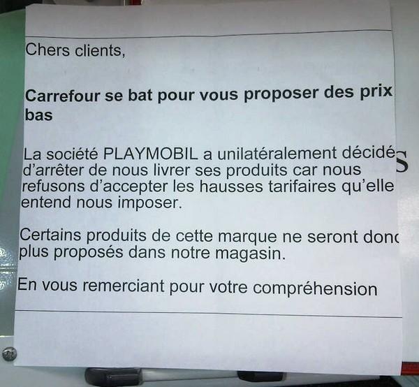 playmobil carrefour affiche clients