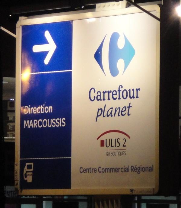 Carrefour Planet panneau Les Ulis N20