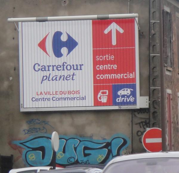 Carrefour Planet panneau Ville du bois N20
