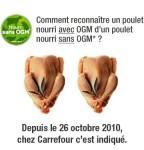 Carrefour nourri sans OGM poulet