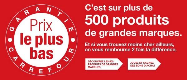 garantie Carrefour prix le plus bas