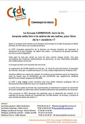 Carrefour CFDT cavalerie