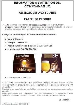 carrefour bière abbaye