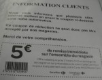 faux coupon de réduction carrefour 31 mars 2012