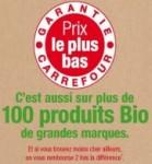 100 produits bio marque carrefour