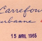 Carrefour Villeurbanne le 15 avril 1965