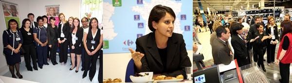 Carrefour Sannois Najat Vallaud-Belkacem bedier