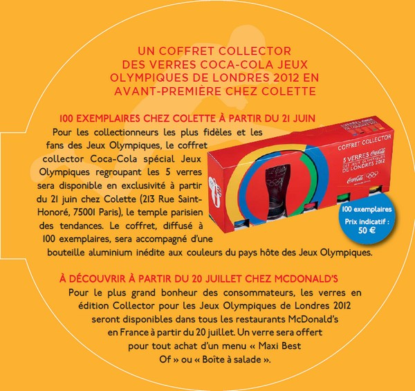 Coca-Cola coffret collector verre