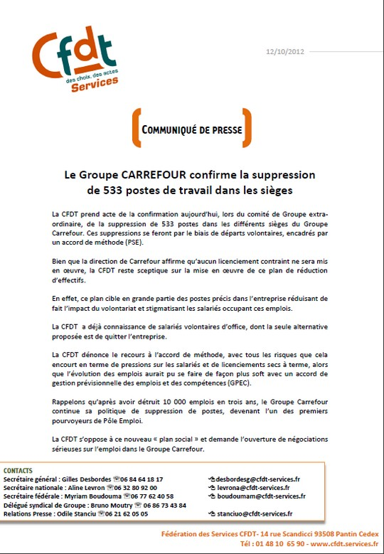 carrefour cfdt_533 postes siege