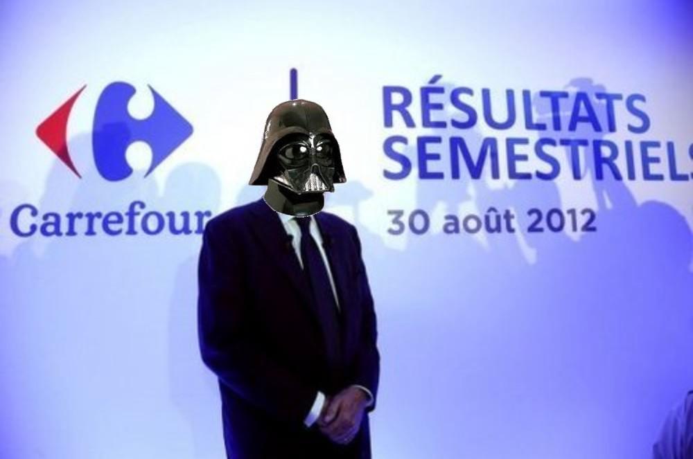dark vador PDG de Carrefour