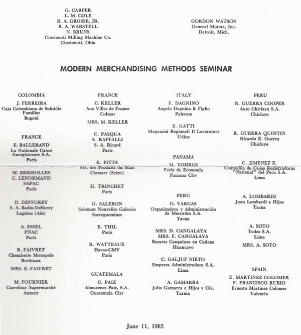 Liste MMM juin 1965