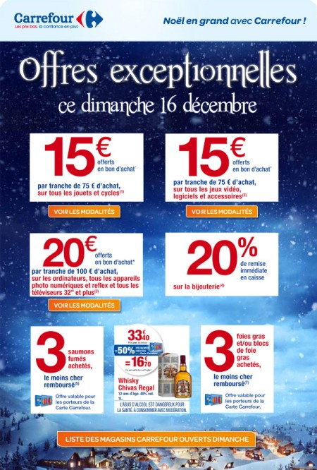 carrefour offre 16 decembre 2012
