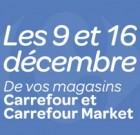 Carrefour : ouverture des dimanches 9 et 16 décembre 2012