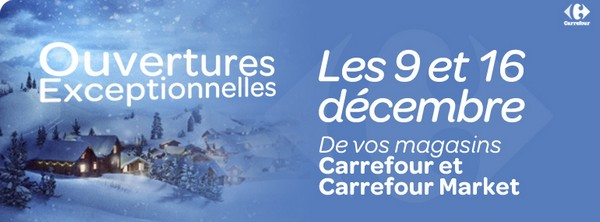 carrefour ouvert décembre 2012