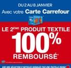 Carrefour : 2e article textile remboursé 100%