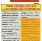 Carrefour hyper : FO n'appelle pas à une action nationale le 29 mars
