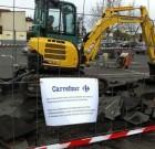 Carrefour Sainte Geneviève des Bois en travaux