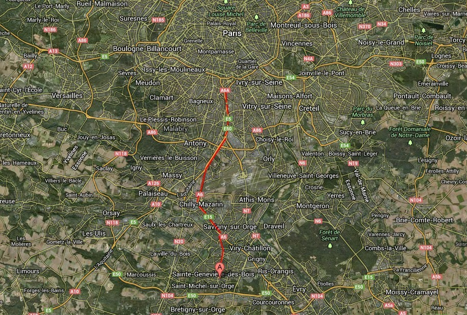 carte carrefour sainte genevieve des bois